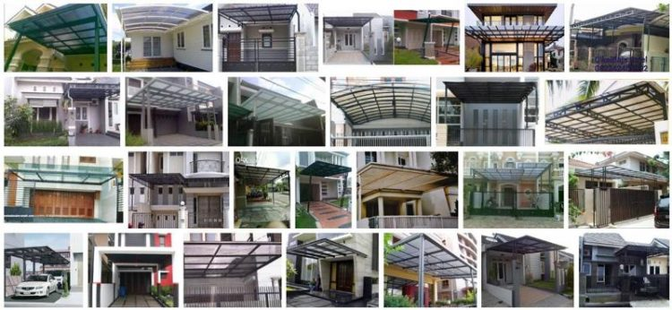 canopy minimalis polycarbonate